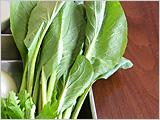 小松菜をたくさん食べてミネラル補給