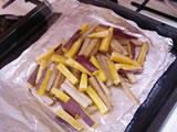 200度のオーブンで10分程度焼く。焼き上がったらアルミホイルを開け、粗熱を取る。