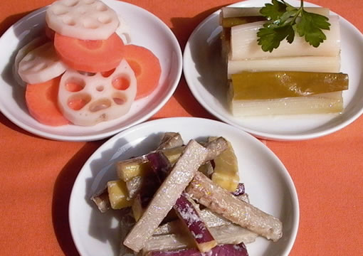 冬の3種の常備菜