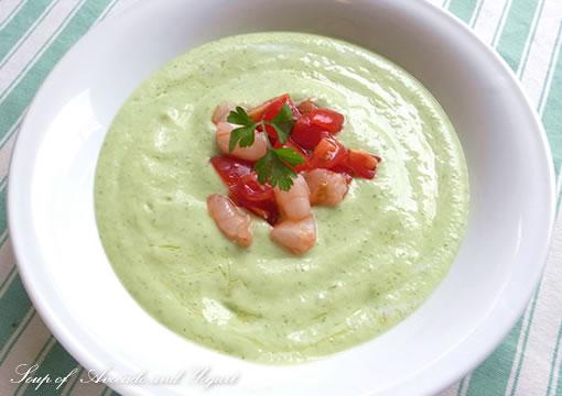 アボカドとヨーグルトの冷たいスープ
